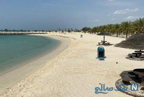 ساحل دبی خالی از مردم بعد از قرنطینه به دلیل کرونا , ببینید