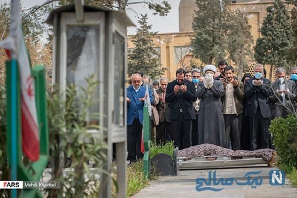 مراسم خاکسپاری فاطمه رهبر