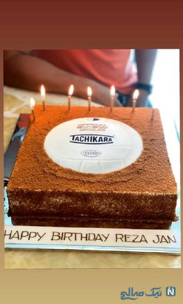 کیک تولد محمدرضا گلزار