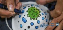 تصاویر جالب از نقاشی روی ماسک برای مقابله با کرونا