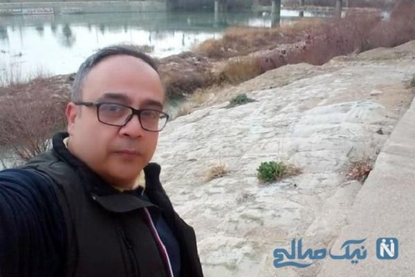 عکس علی ابوالحسنی وهمسرش