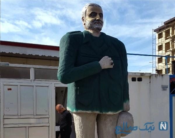 مجسمه شهید سلیمانی