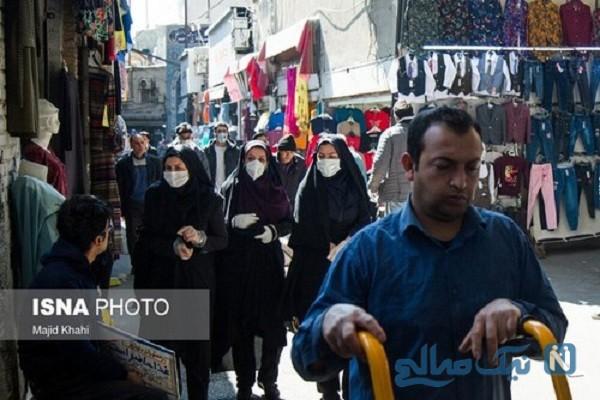 تصاویری از بازار تهران در روزهای کرونایی آخر سال