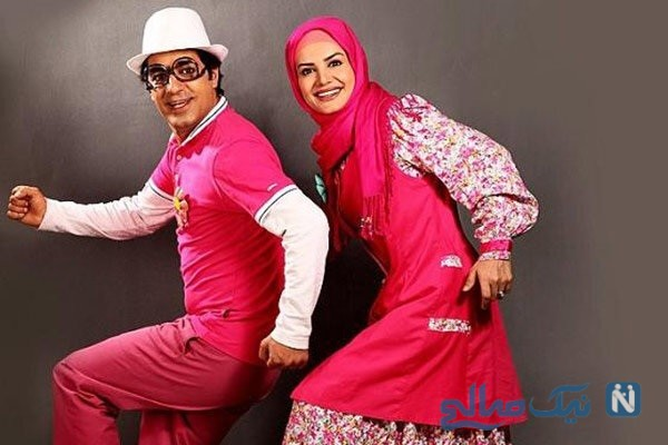 آزیتا رضایی و همسرش