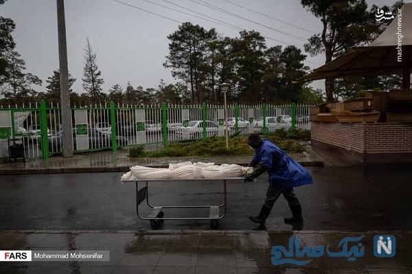 غسالخانه بهشت زهرا در روزهای مبارزه با کرونا