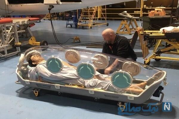 جابجایی بیماران کرونایی با آمبولانس پرنده