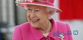 شوخی جالب با لباس ملکه انگلیس!