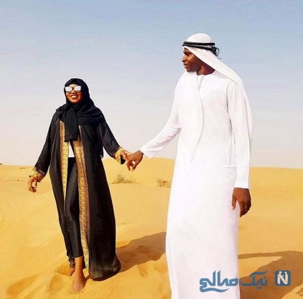 شیخ دیاباته و همسرش