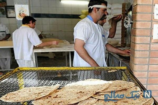 نانوایی که در روزهای کرونایی نان متفاوت دست مردم میدهد
