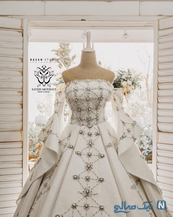 لباس عروسی الهام حمیدی