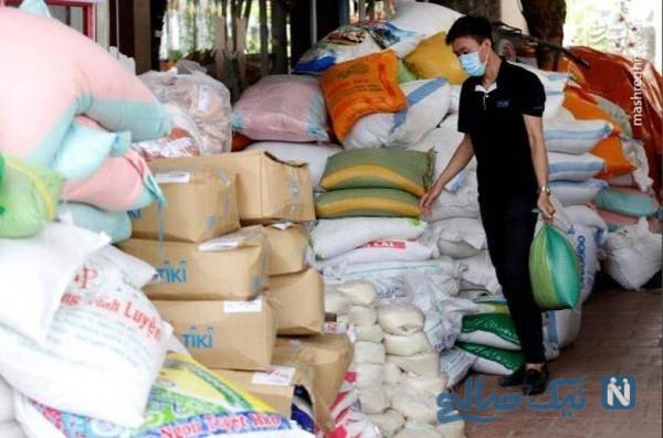 توزیع برنج رایگان از طریق دستگاه خودپرداز