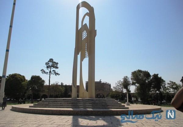 میدان تاریخی کرمان در بارندگی سیل آسا غرق شد