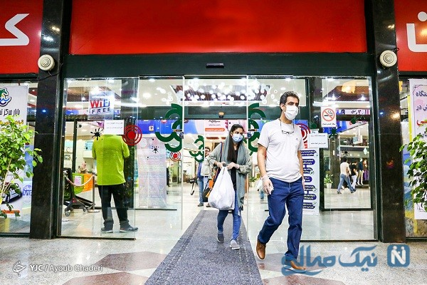 احوالات خانم ها در هنگام بازگشایی مراکز خرید کیش