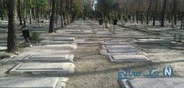 تصاویری غمبار از آرامستان بهشت رضا مشهد در روزهای کرونایی