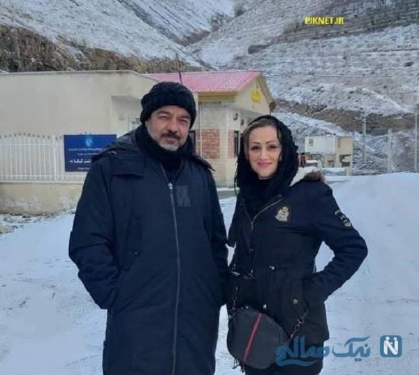 سعید آقاخانی و همسرش