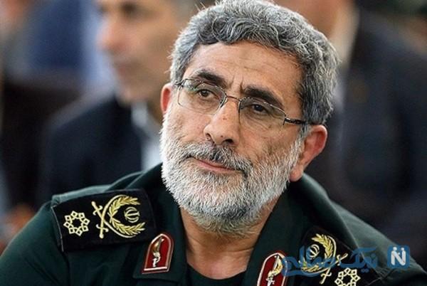سردار قاآنی فرمانده سپاه قدس درکنار مرد ۱۰ میلیون دلاری