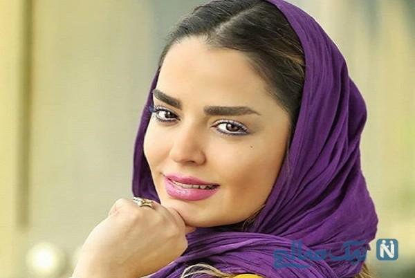 جشن تولد سپیده خداوردی بازیگر زن ایرانی با کیک ساده و زیبا