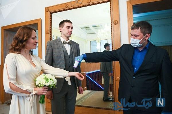ورود عروس و داماد به تالار
