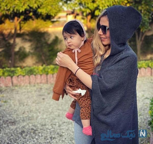 همسر مهران غفوریان و دخترش