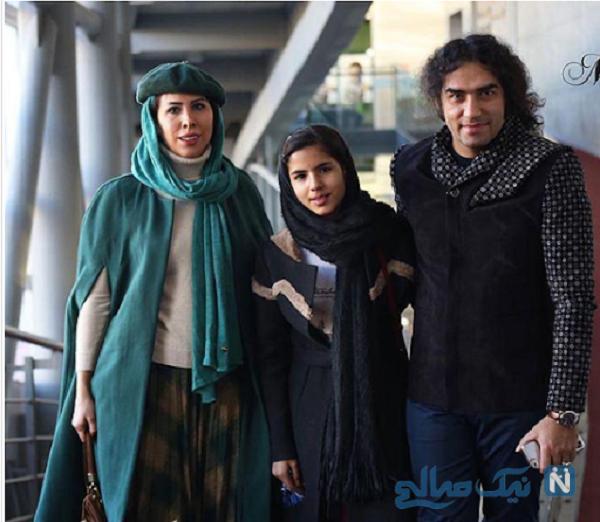 رضا یزدانی درکنار همسر و دخترش