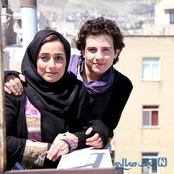امیر کاظمی و همسرش