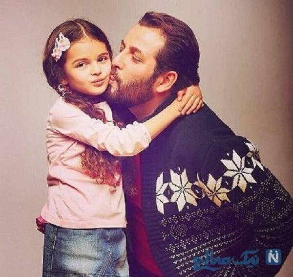 بوسه پدر بر گونه دختر