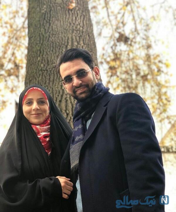 آذری جهرمی و همسرش