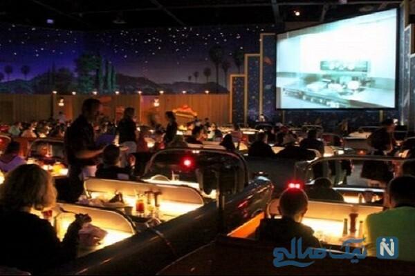 تصاویر نخستین سینما ماشین بعد از انقلاب در ایران , ببینید
