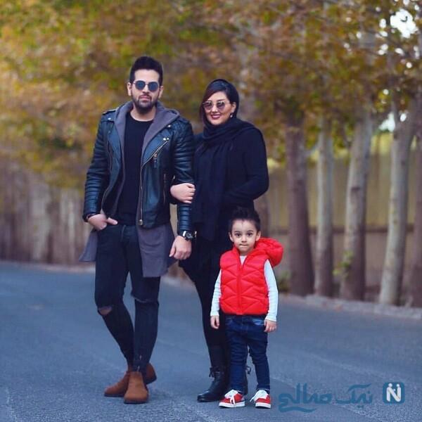 آقای خواننده درکنار همسر و پسرش