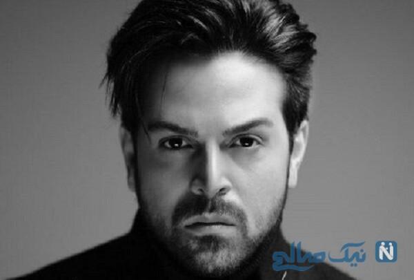 عماد طالب زاده خواننده معروف و همسرش در کنار فرزندانشان