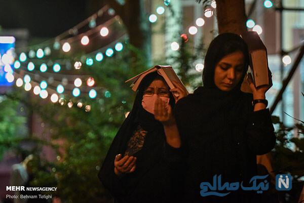 مراسم احیای شب قدر با ماسک و دستکش در پارک ارم تهران