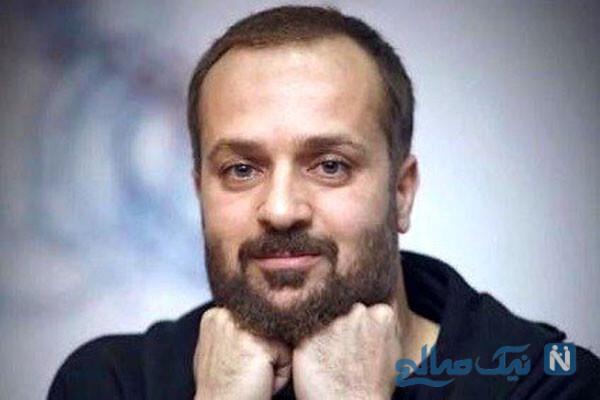 گریم احمد مهران فر در پشت صحنه پایتخت ۶ با ماسک