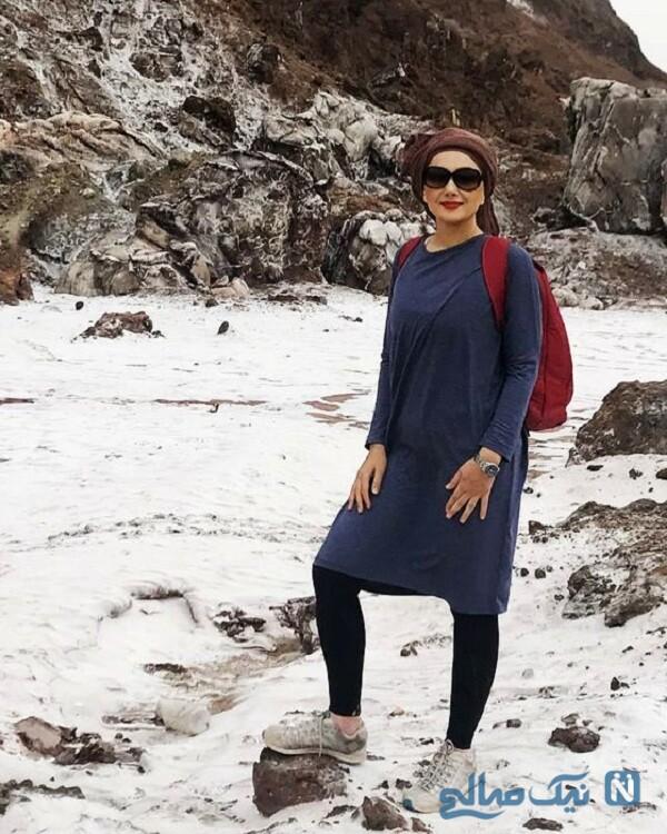 هانیه توسلی در کوهنوردی