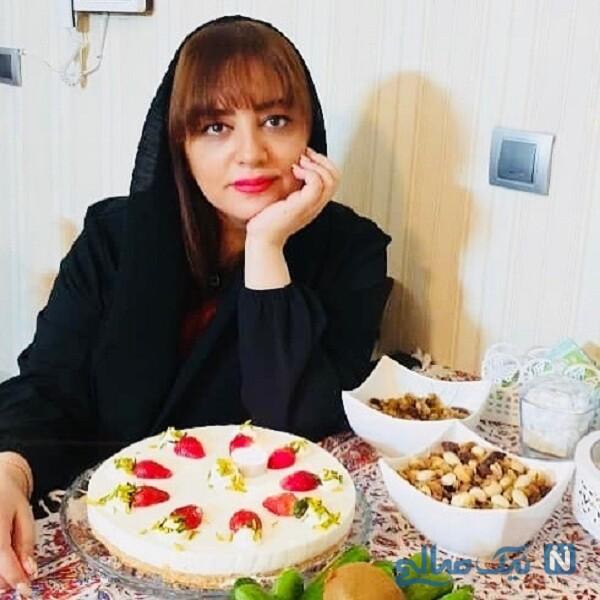 جشن تولد ساده لیلا برخورداری بازیگر معروف با کیک زیبای خانگی اش