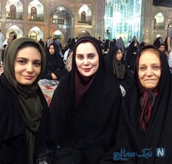 لیندا کیانی و مادرش در مشهد