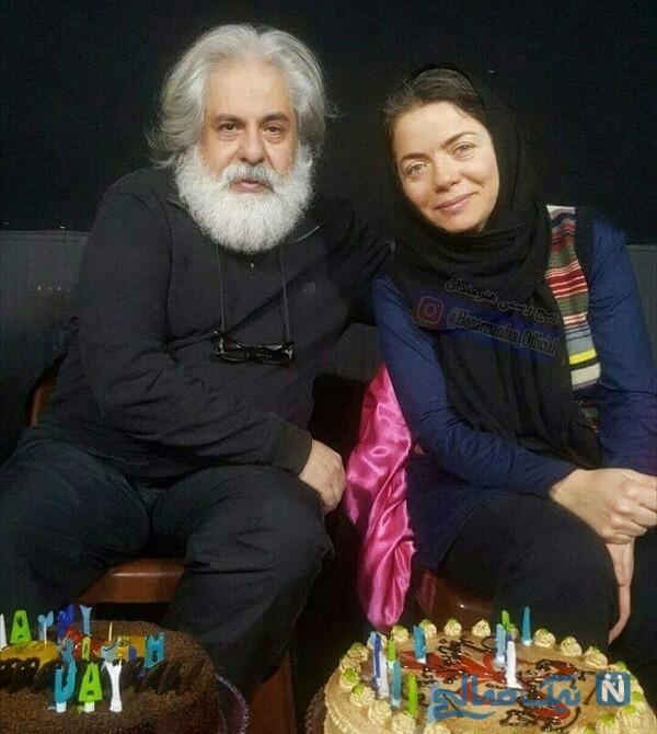 مهتاب نصیرپور و همسرش