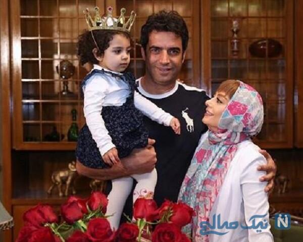 یکتا ناصر درکنار همسر و دخترش
