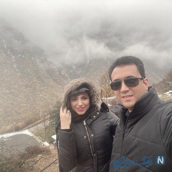 محیا اسناوندی و همسرش