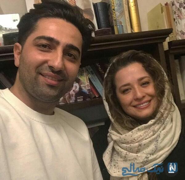 مهراوه شریفی نیا و علی سخگو در پشت صحنه دل