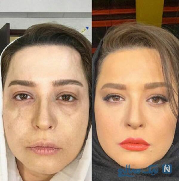 گریم مهراوه شریفی نیا در سریال دل