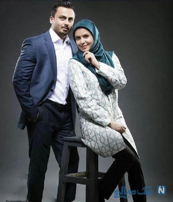 نجمه جودکی و همسرش مهدی پارسازاده