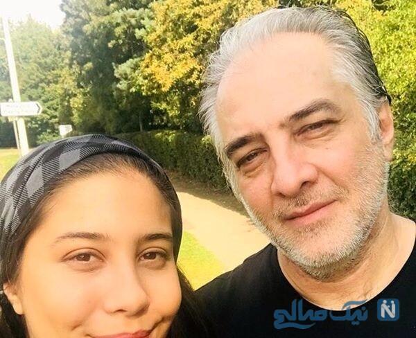 عکس ایرج نوذری و دخترش