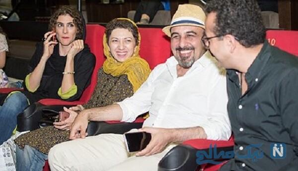 رضا عطاران و همسرش فریده فرامرزی
