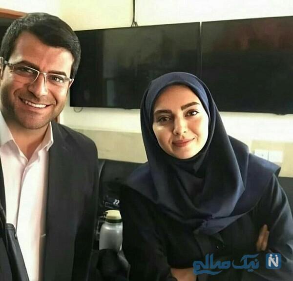 تصویری از مهشید جوادی درکنار روزبه حصاری