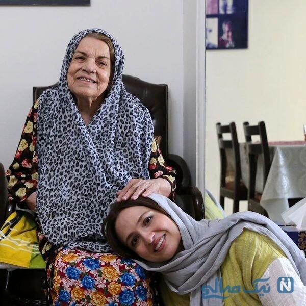 گلاره عباسی درکنار خانم بازیگر