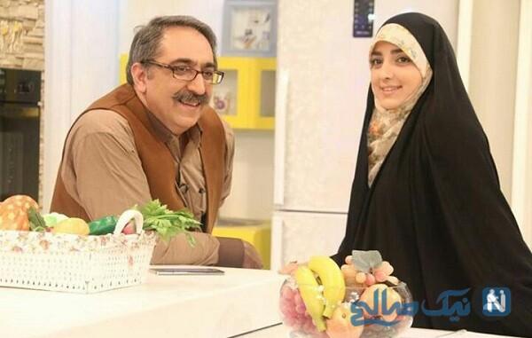 ستاره سادات قطبی مجری تلویزیون و همسرش