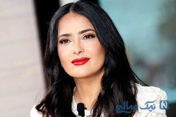 راز زیبایی و جوانی پوست سلما هایک بازیگر معروف زن در ۵۴ سالگی