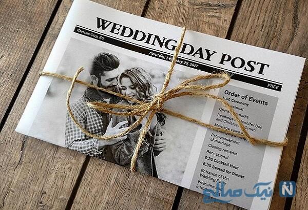 طرح های متفاوت و جالب کارت دعوت عروسی ۲۰۲۰