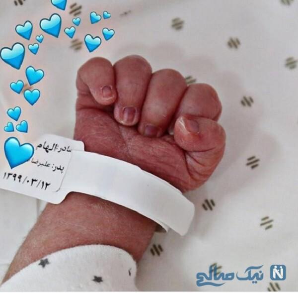 عکس بچه الهام حمیدی