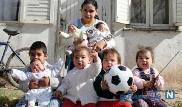 دختر آرژانتینی و فرزندانش